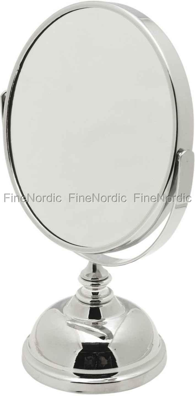 Ryddig Lene Bjerre Astrid Bath Speil med Forstørrelse - H 23 cm - Sølv BK-73