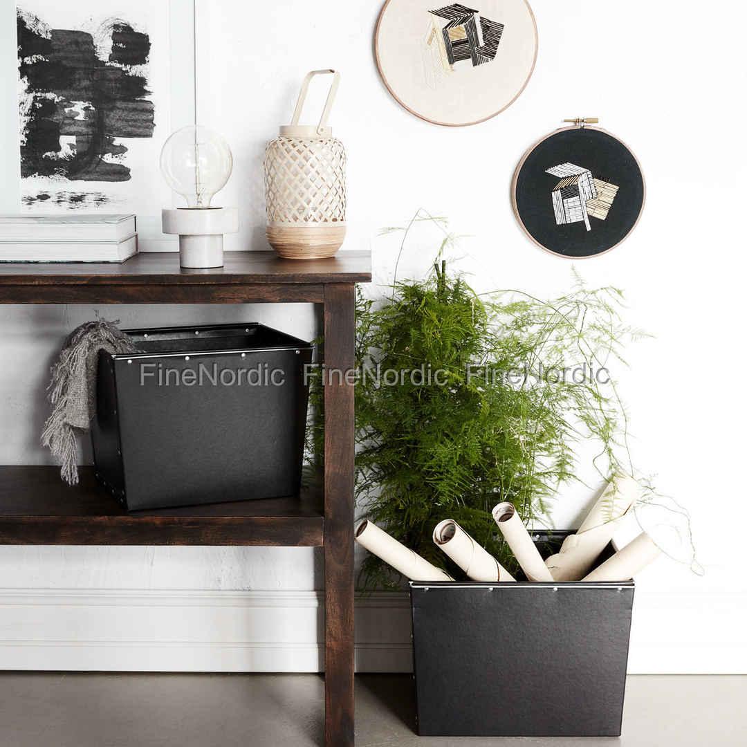 house doctor oppbevaringsbokse box 2 sett med 2 st rrelser svart. Black Bedroom Furniture Sets. Home Design Ideas