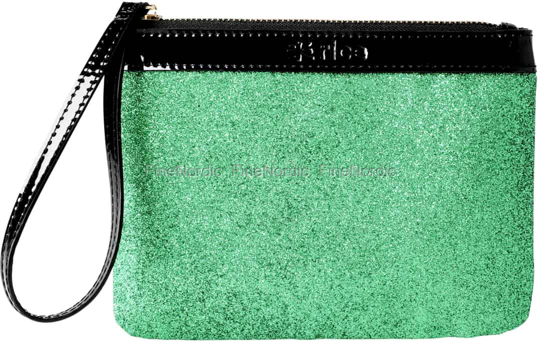 Rice PU Clutch Grønn Glitter