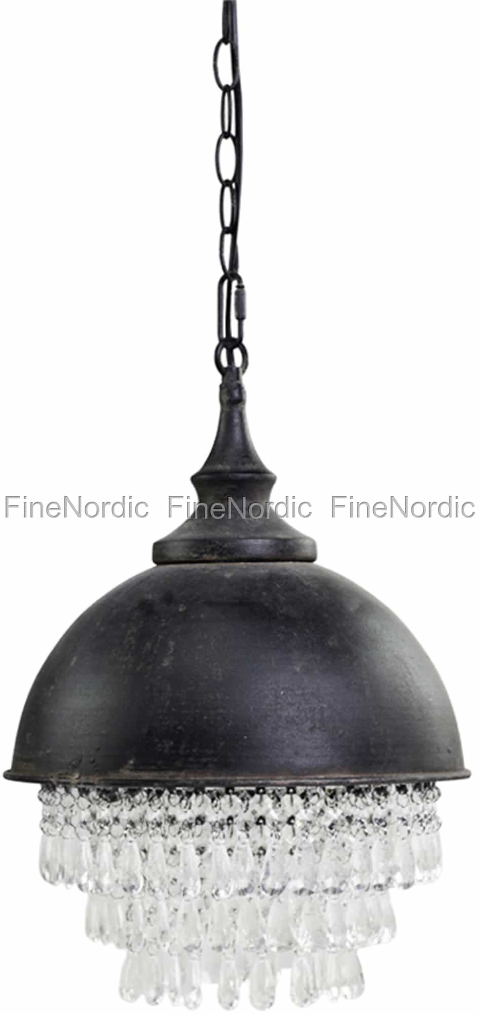 Chic Antique Factory Lampe med Prism Svart